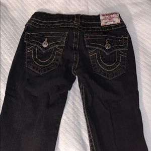 "True Religion ""Billy"" Bootcut Black Jeans Size 25"